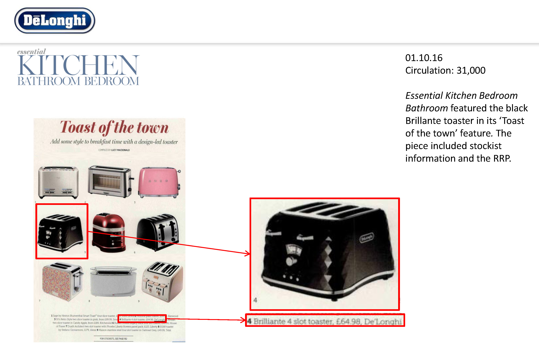 Brillante Toaster - Essential Kitchen Bedroom Bathroom - EPE ...