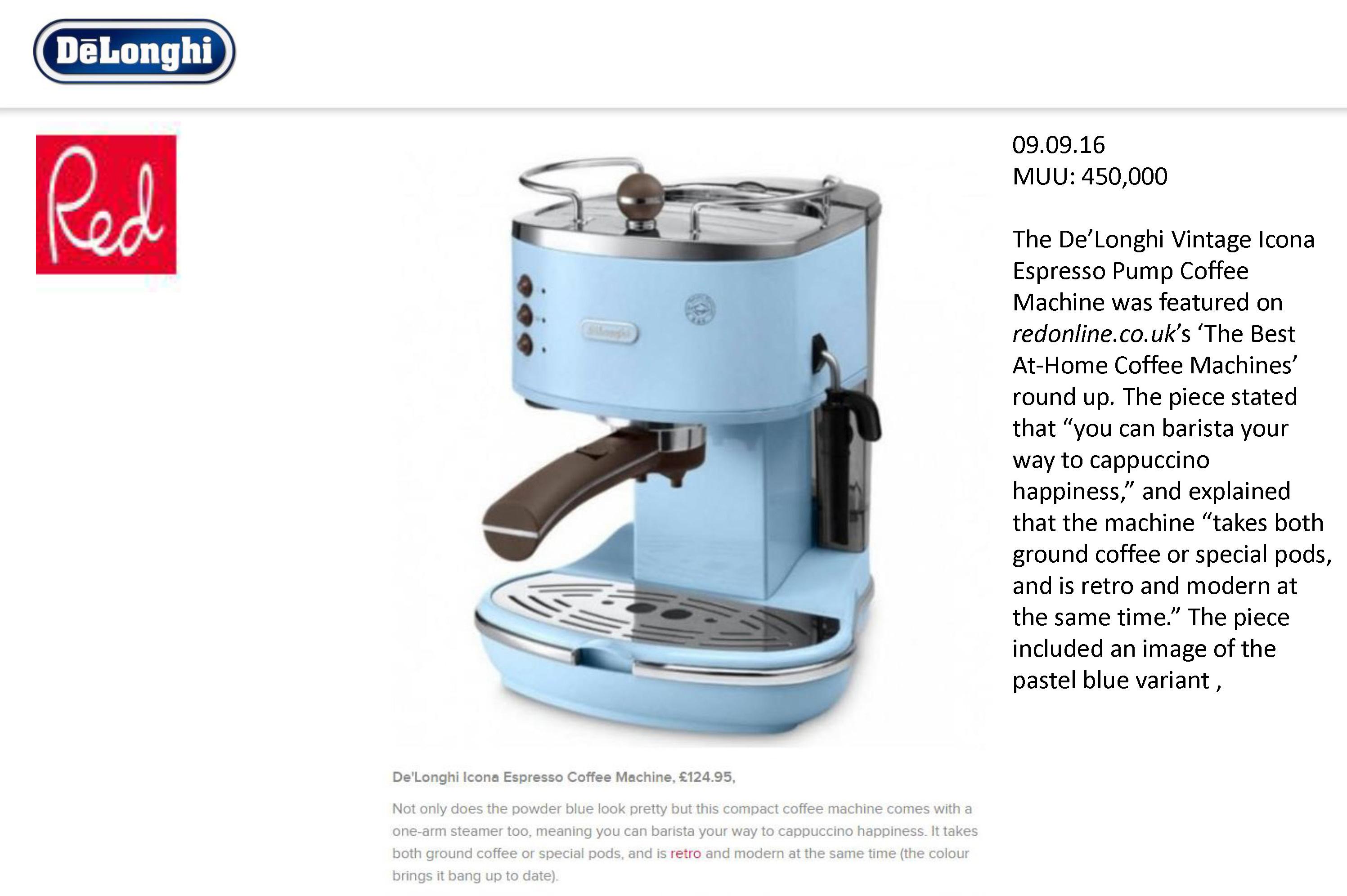 Vintage Icona Espresso Machine Redline Co Uk