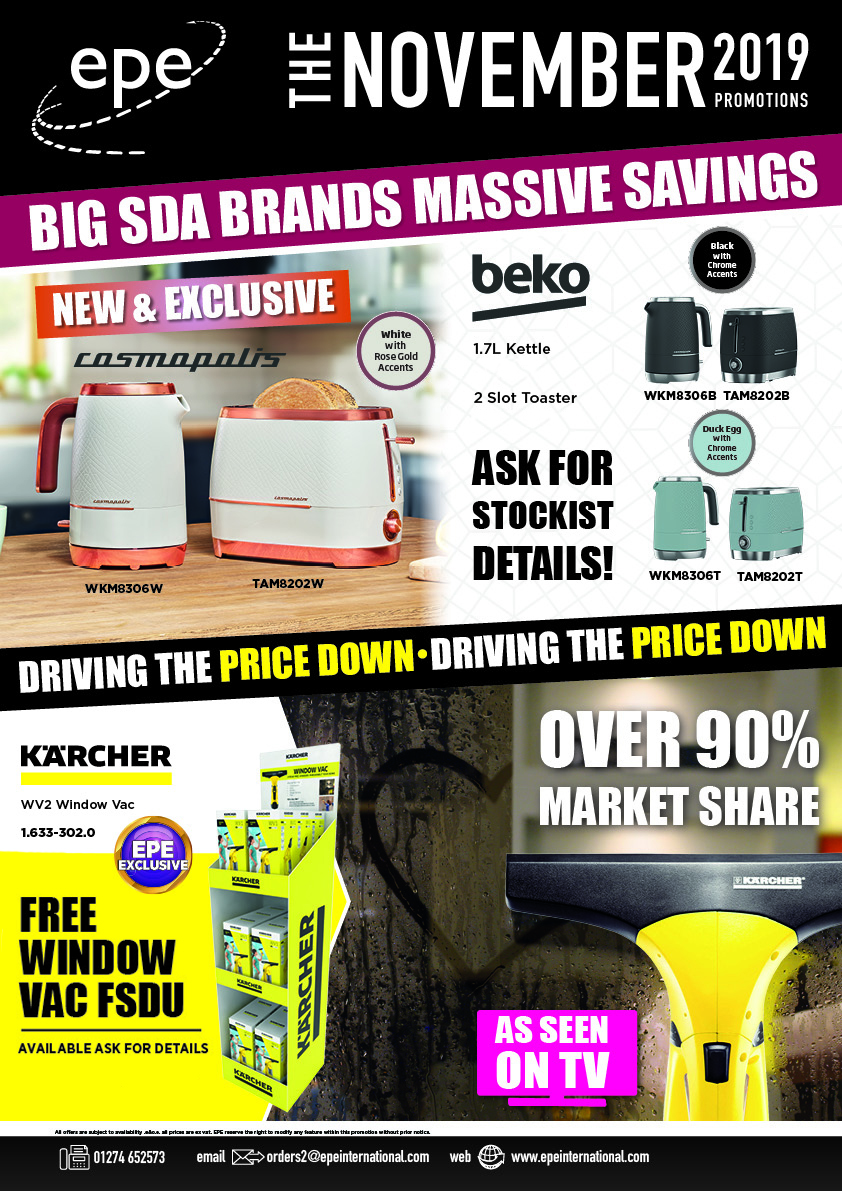 EPE November Monthly Promotions Brochure cover - no pricing
