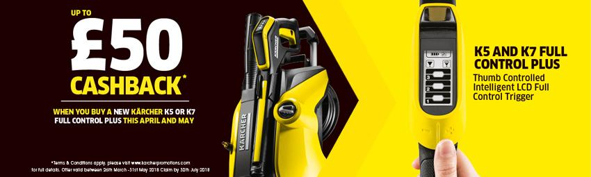 Up To £50* Cash Back With Karcher On The K5 & K7