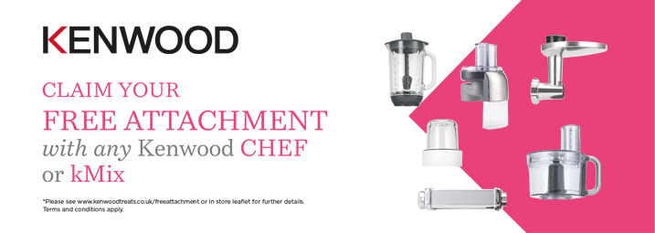 The Kenwood Chef FREE Attachment Promotion