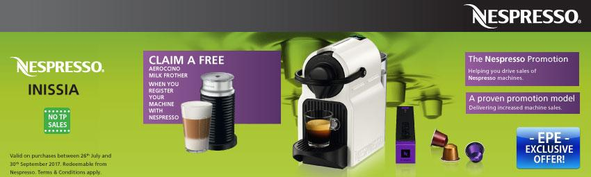 Claim A Free Aeroccino Milk Frother When You Buy An Inissia From 26th July Until 30th September