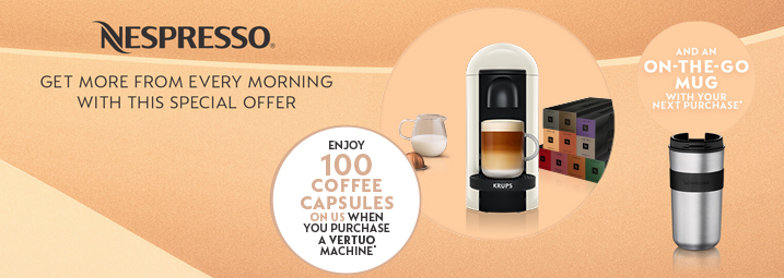 Nespresso Spring Vertuo Promotion 2020