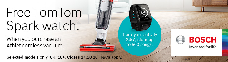 Free TomTom Spark with every purchase!