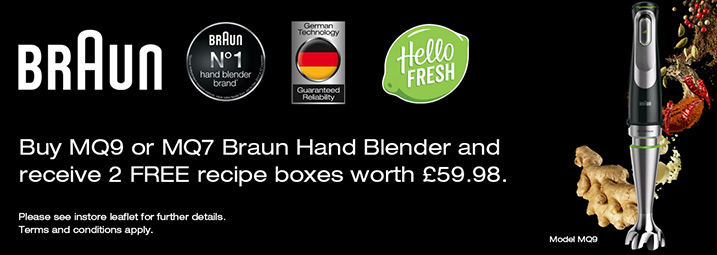 The Braun Hand Blender HelloFresh Promotion