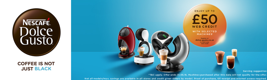 £50 Web Credit From Dolce Gusto