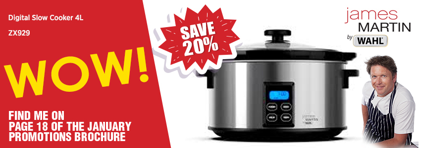 Save 20% on the James Martin by Wahl Digital Slow Cooker