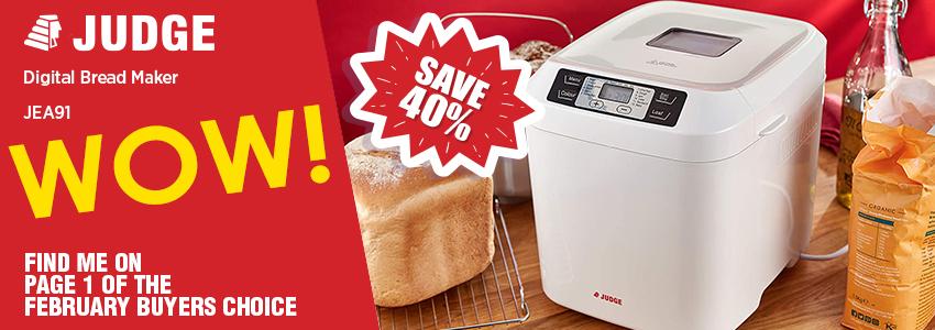 Save 40% on the Judge Digital Bread Maker
