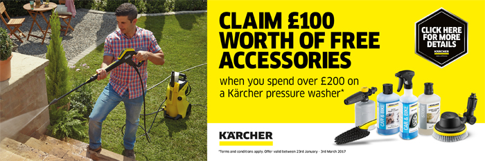 CLAIM £100 WORTH OF FREE ACCESSORIES!