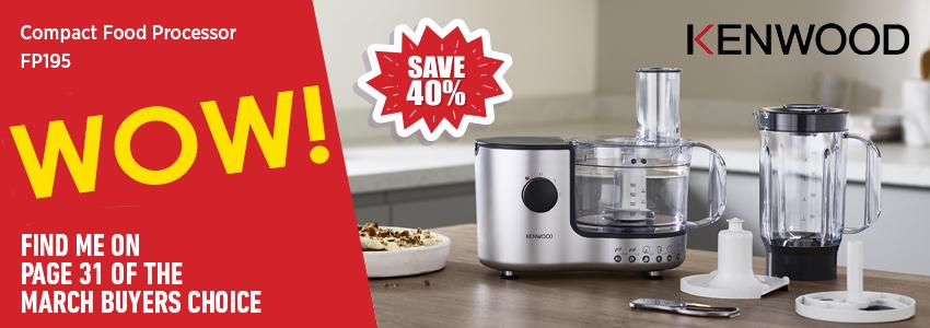 Save 40% on the Kenwood Food Processor!