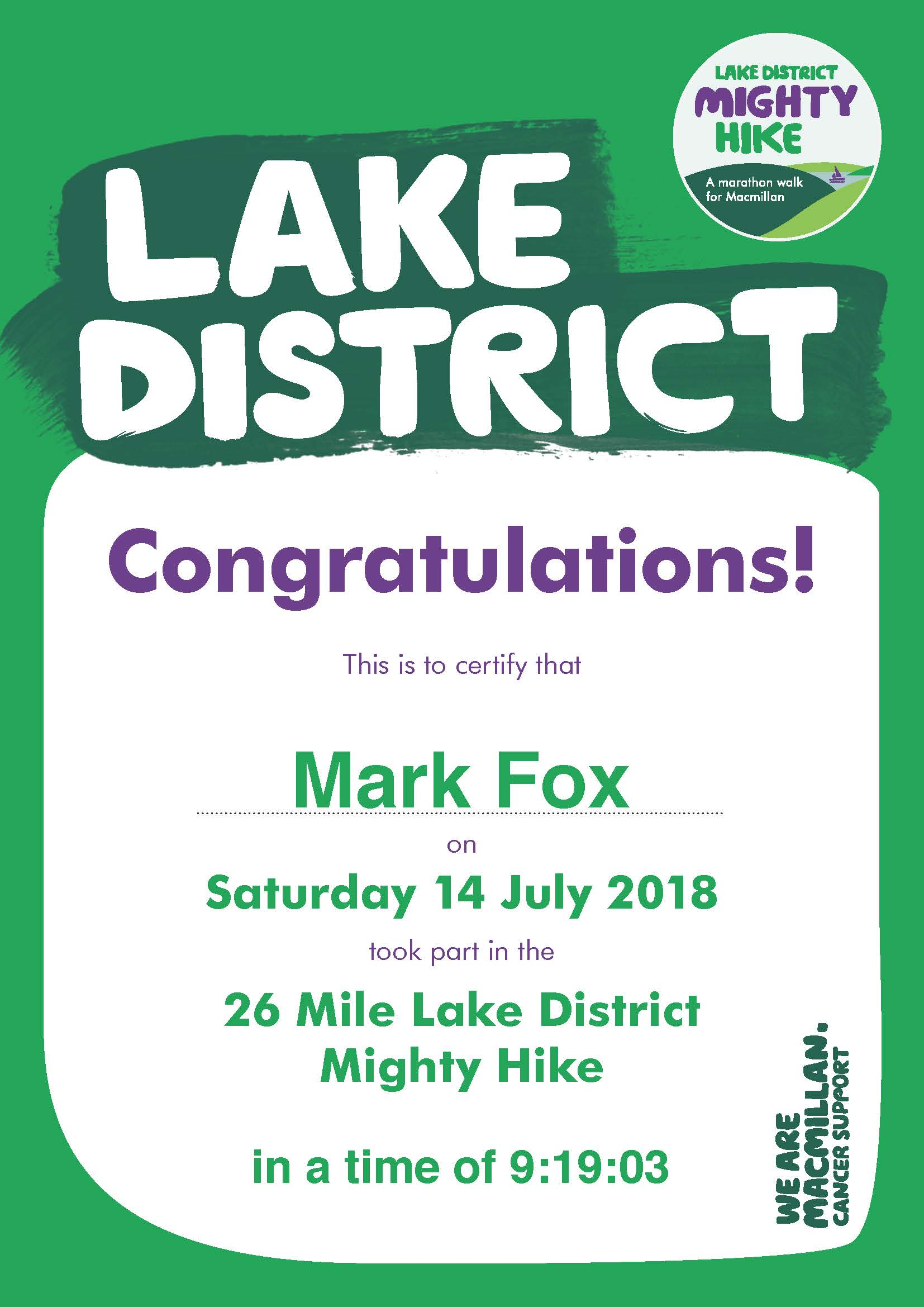 Mark Fox - Mcmillam Certificate