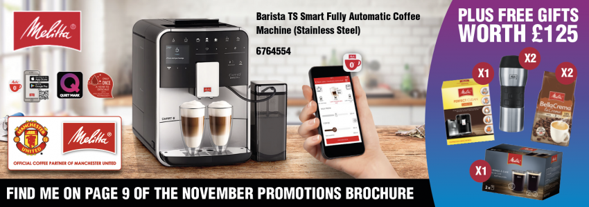 Get FREE gifts worth £125 when you buy the Barista TS Smart from Melitta!