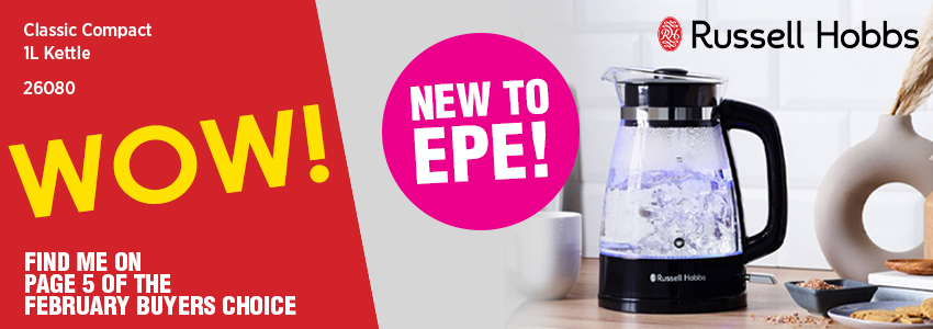 New to EPE – The Russell Hobbs Classic Compact Kettle